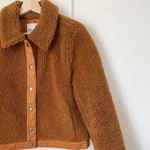 Rust Madewell Sherpa Jacket